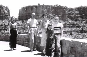 Family in Salt River Canyon 1956