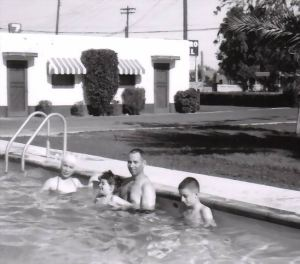 In motel pool in Phoenix 56